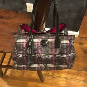 Coach Tartan Purse - perfect condition!